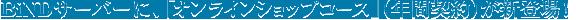 BiNDサーバーに、「オンラインショップコース」(年間契約)が新登場!